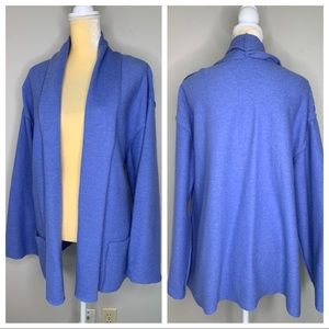 Chico's Periwinkle Wool Open Cardigan 3 XL